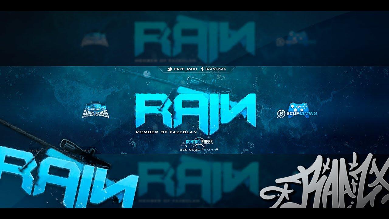 speed art  faze rain background