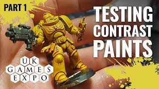 #UKGE2019 Trying GW Contrast Paints Part 1 (Games Workshop)