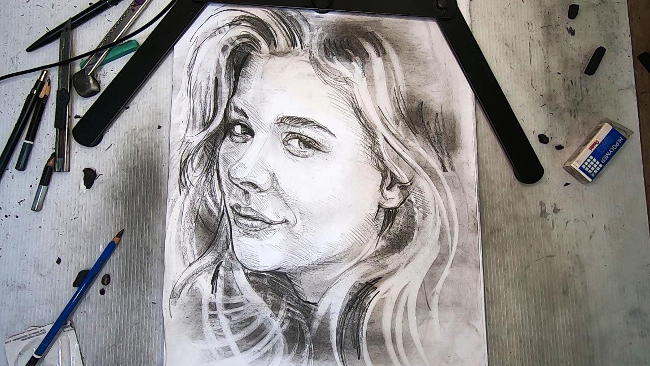 5 minutes How to Portrait of Chloe Grace Moretz l วาดภาพ โคลอี เกรซ มอเรตซ์ EP.1