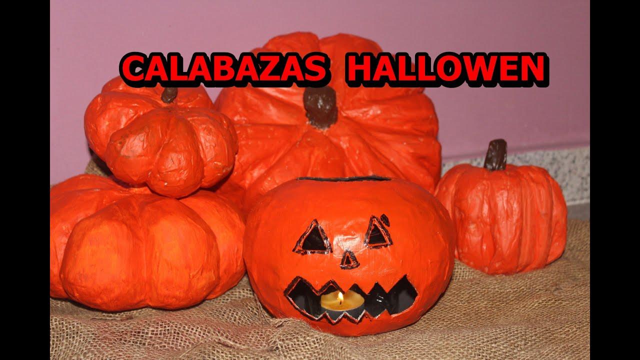 Como hacer calabazas halloween colaborativo youtube for Decoracion de calabazas manualidades
