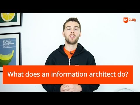 What does an information architect do?