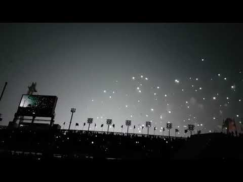 Drones show olympic games
