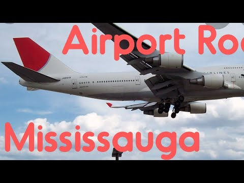 Driving In The Neighbourhood Of Mississauga (video # 1) And Airport Road Mississauga Canada.