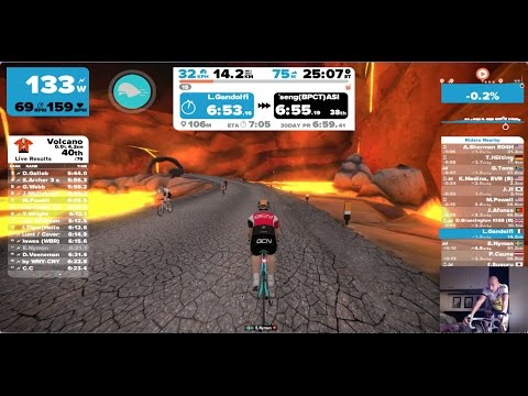 1 lap in Volcano circuit on Watopia - 23.1.2017 - Luca ride on Zwift