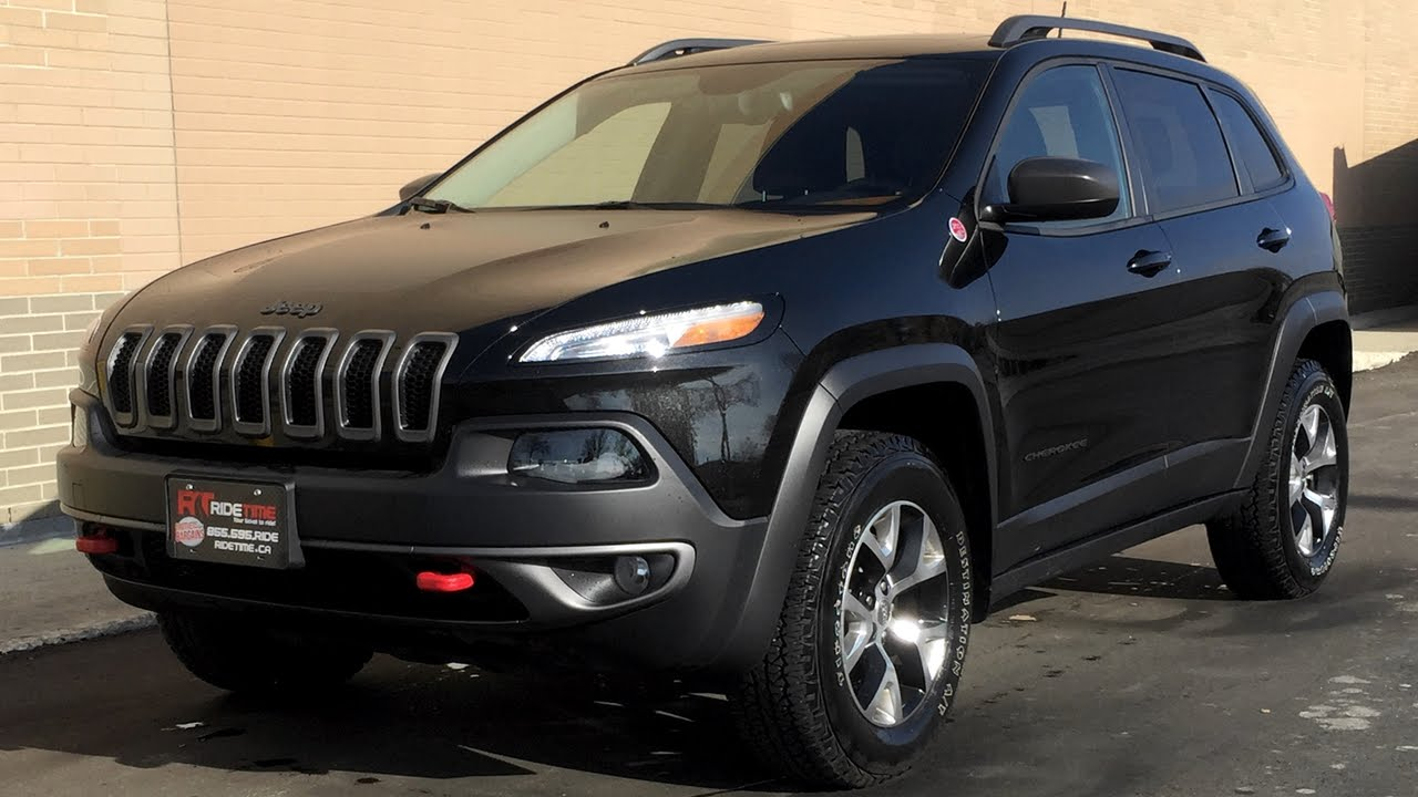 2015 jeep cherokee trailhawk 4wd - heated leather seats & steering