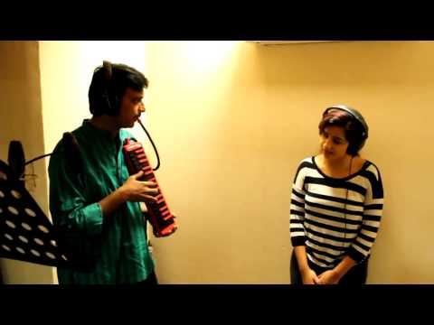Shreya Ghoshal At Recording Studio