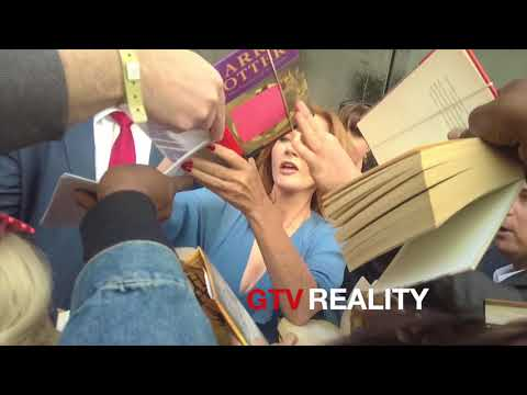 JK Rowling signing autographs on GTV Reality