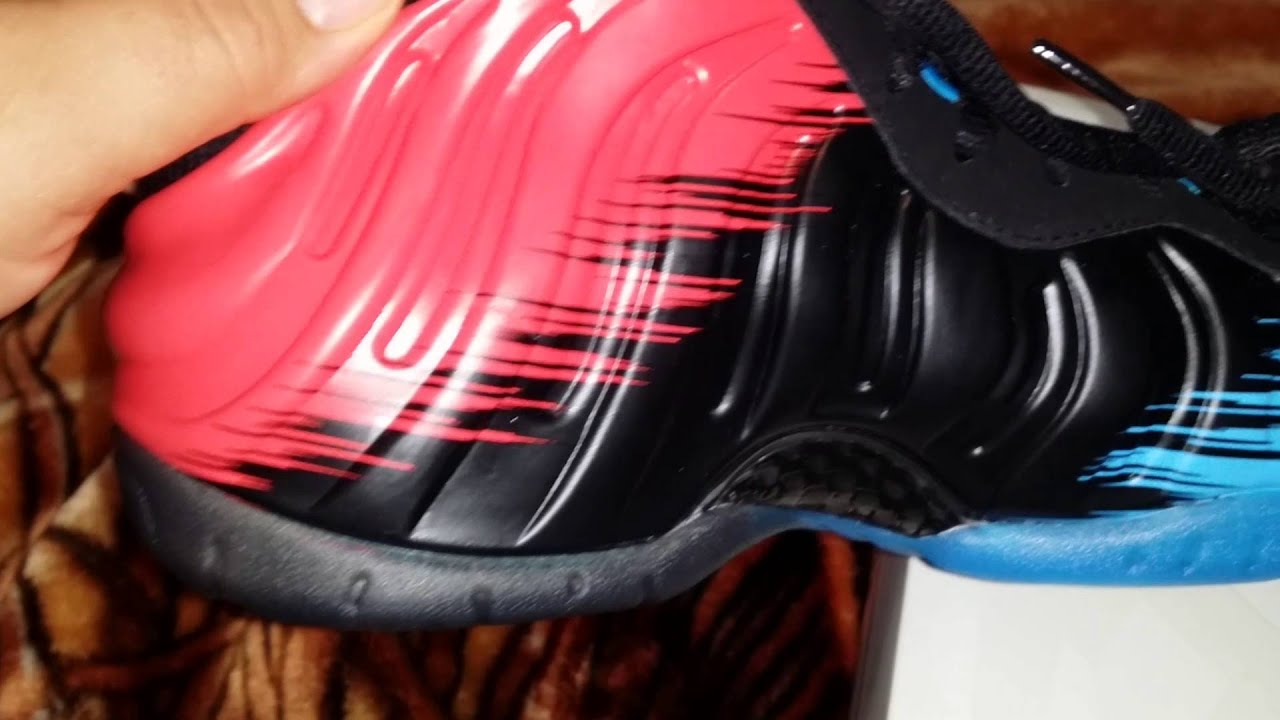 6783b4fca4846 Authentic Nike Air foamposite pro spider man - YouTube