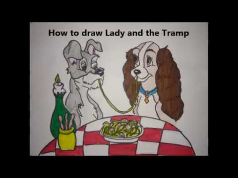 How To Draw Lady And The Tramp Youtube