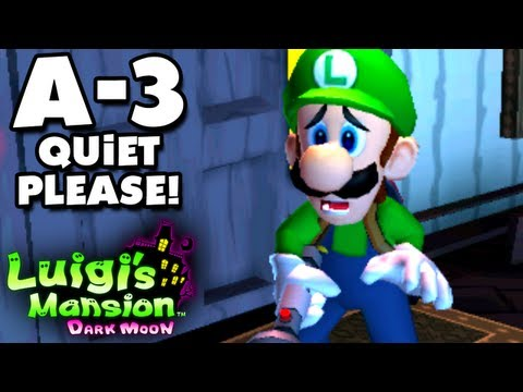 Luigi's Mansion Dark Moon - Gloomy Manor - A-3 Quiet Please! (Nintendo 3DS Gameplay Walkthrough)