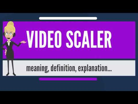 What is VIDEO SCALER? What does VIDEO SCALER mean? VIDEO SCALER meaning, definition & explanation