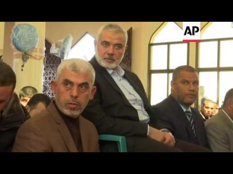 New Hamas leader makes first public appearance