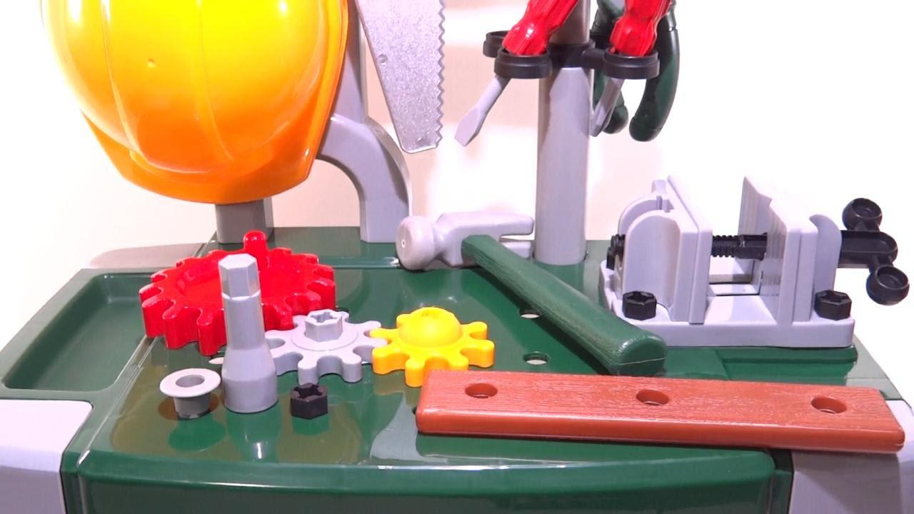Set de herramientas con mesa armable de juguete para ni os - Mesas para ninos de plastico ...