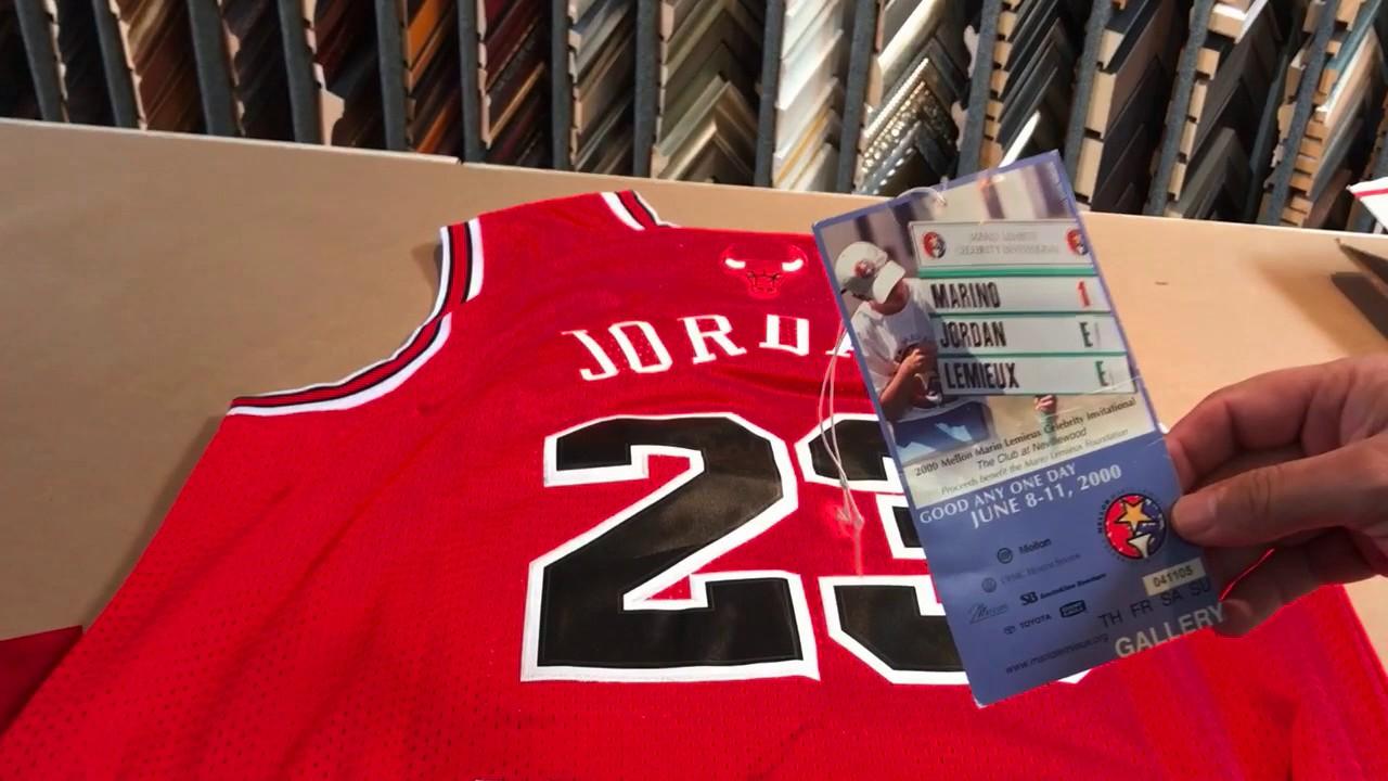 c9234107e94587 Unboxing a Michael Jordan Jersey for Framing - YouTube