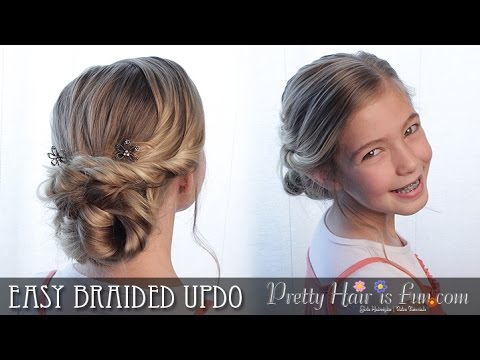 Easy Braided Prom Updo Hairstyle Tutorial