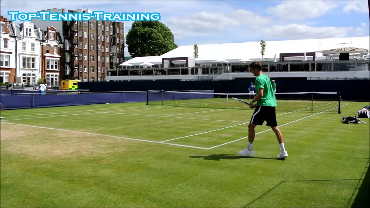 Sam Querrey Bombing Down Serves Court Level View Youtube