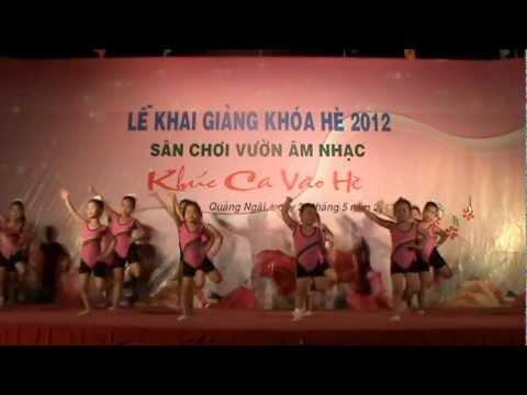 Lớp năng khiếu Aerobic - Nhà thiếu nhi tỉnh Quảng Ngãi