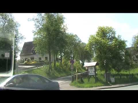 Villages Around Olpe, Germany (HD)