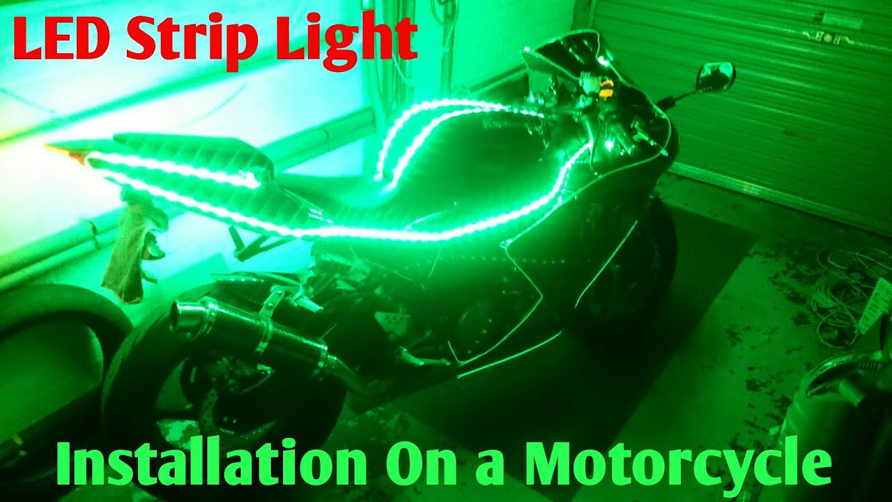 how to fit led strip lights on a motorcycle  [ 1280 x 720 Pixel ]
