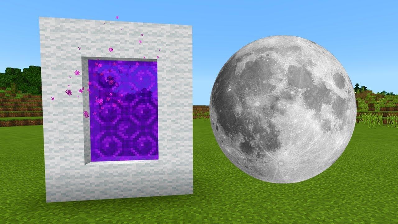 minecraft pocket edition portal to the moon