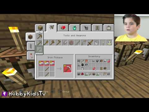 Minecraft MINING In HobbyPig's World! HobbyKidsGaming Video Game Play