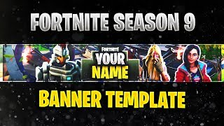 [FREE] Fortnite Season 9 Banner Template With Download | Fully Editable Fortnite Season 9 Banner