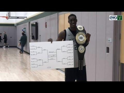 Tony Snell wins inaugural Bucks free-throw championship belt