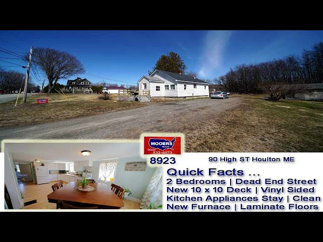 Homes For Sale In Maine | 90 High ST Houlton ME House MOOERS REALTY #8923