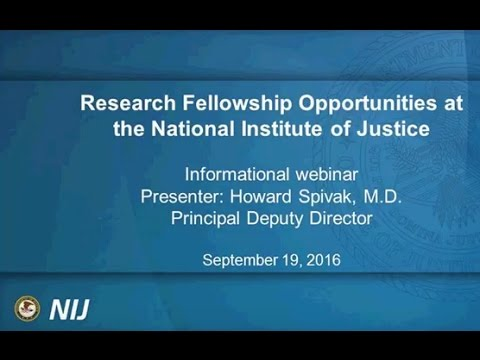 Research Fellowship Opportunities at the National Institute of Justice