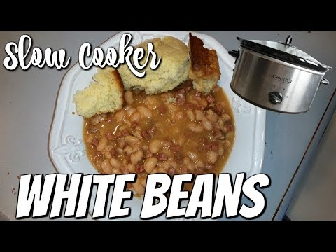 SLOW COOKER WHITE BEANS~FOODIE FRIDAYS!