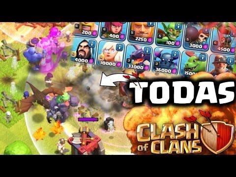 ¡ATAQUE con TODAS las TROPAS de Clash of Clans