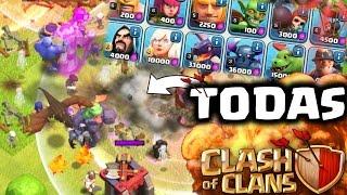 """¡ATAQUE con TODAS las TROPAS de Clash of Clans""""! - ANTRAX ☣"""