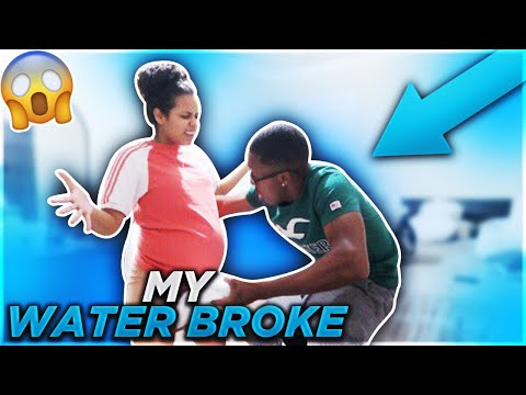 MY WATER BROKE PRANK ON COREY! (Watch His Reaction)