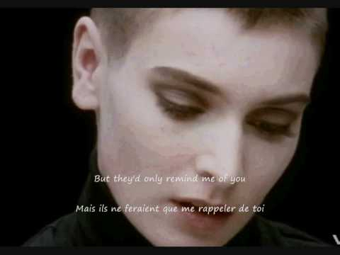 Sinead O'Connor Nothing Compares 2 U (Prince) lyrics Français English Traduction Translation