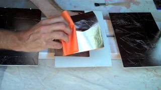 How to gold leaf, silver leaf and metal leaf with 3 hour oil size