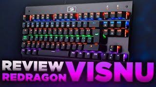 El Mejor Teclado Mecánico Barato Retroiluminado para Gamers - Unboxing & Review Redragon Visnu