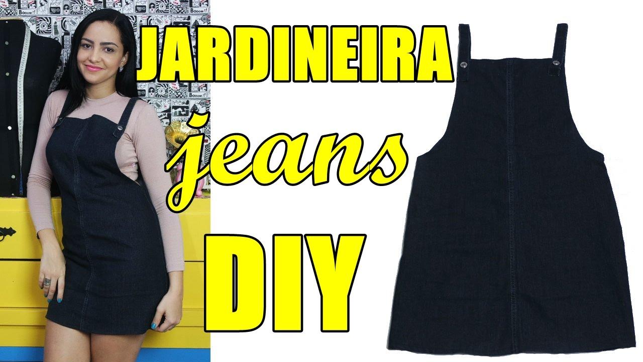 1ac2e84d7 Como fazer jardineira /salopete jeans com sobras de pernas de calça Diy -  Suellen Redesign - YouTube