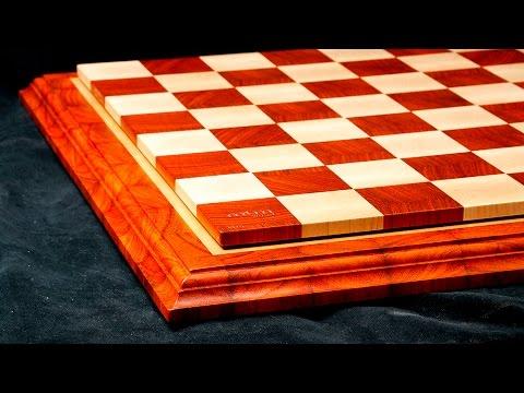 Making an end grain padauk/maple chessboard