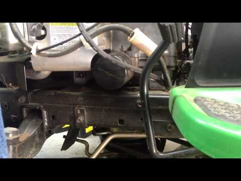 How To change oil on a John Deere tractor with a briggs and stratton