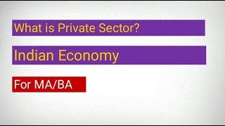 Private sector in Hindi