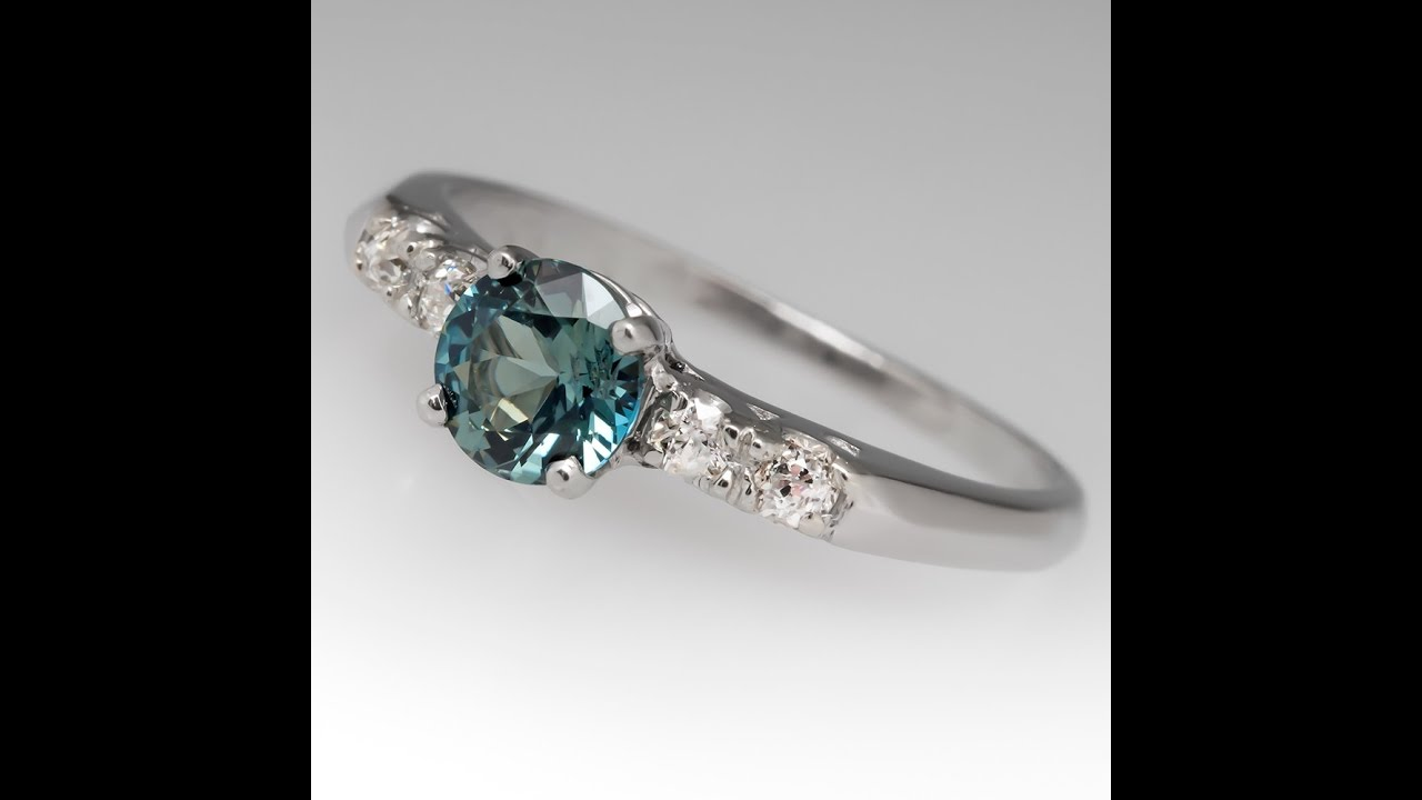 blue and pin sapphire engagement green precious eidel rings
