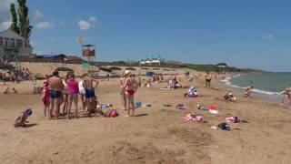 Пляж пансионата Искра