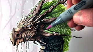 Let's Draw an EARTH DRAGON - FANTASY ART FRIDAY