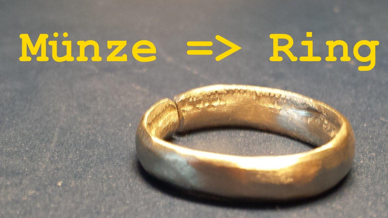 Ring Aus Münze Hergestellt Youtube