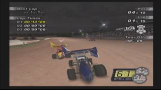 """World of Outlaws Sprint Cars 2002 (PS2) - Career Mode EP03 """"The Choke-Artist"""""""