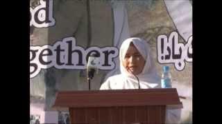 سخنرانی خانم شکریه ندا در گرامیداشت از روز همبستگی هزاره ها در ولایت بامیان