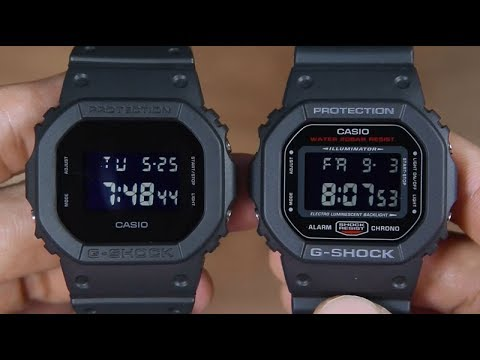 4718bab7b01d CASIO G-SHOCK DW-5600BB-1 VS G-SHOCK DW-5600HR-1 - YouTube