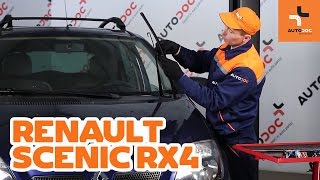 Sådan udskifter du viskerblade foran på RENAULT SCENIC RX4 GUIDE | AUTODOC