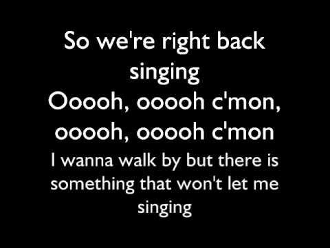 Jesse McCartney--Right Back in the Water lyrics