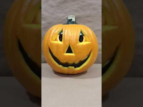 Plastic Talking Light Up Pumpkin Gemmy